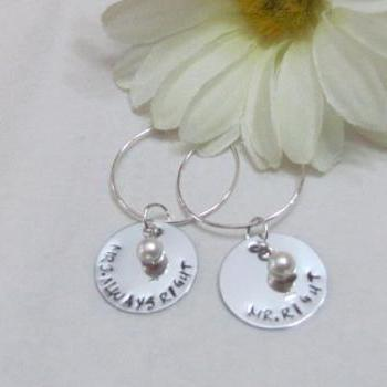Wedding Wine Charms - MR Right - MRS ALWAYS RIGHT